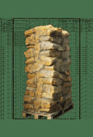 76 zakken ovengedroogd berkenhout (zonder krat)