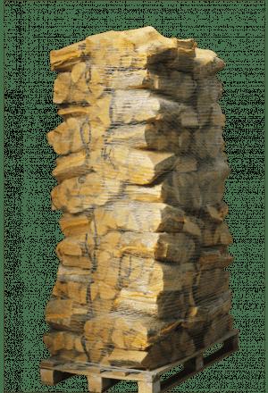 80 zakken ovengedroogd essenhout (zonder krat)