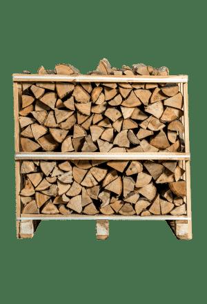 Halve pallet ovengedroogd essen brandhout