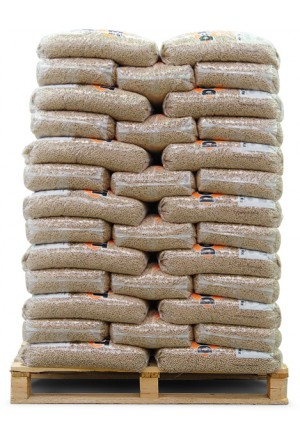 Houtpellets de Lange 100 zakken a 10kg