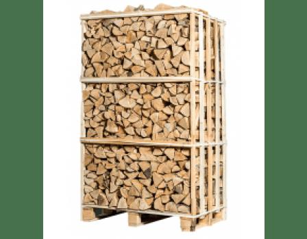 Pallet ovengedroogd berken haardhout zonder schors