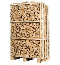 Pallet ovengedroogd essen brandhout
