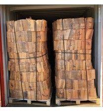 76 zakken ovengedroogd elzenhout (zonder krat)