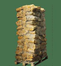 72 zakken ovengedroogd eikenhout (zonder krat)