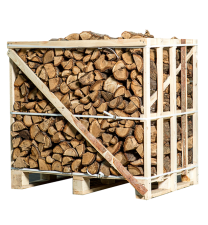 Halve pallet ovengedroogd eiken brandhout