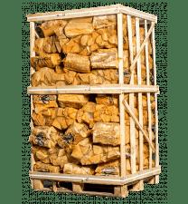 Pallet ovengedroogd eikenhout in netten